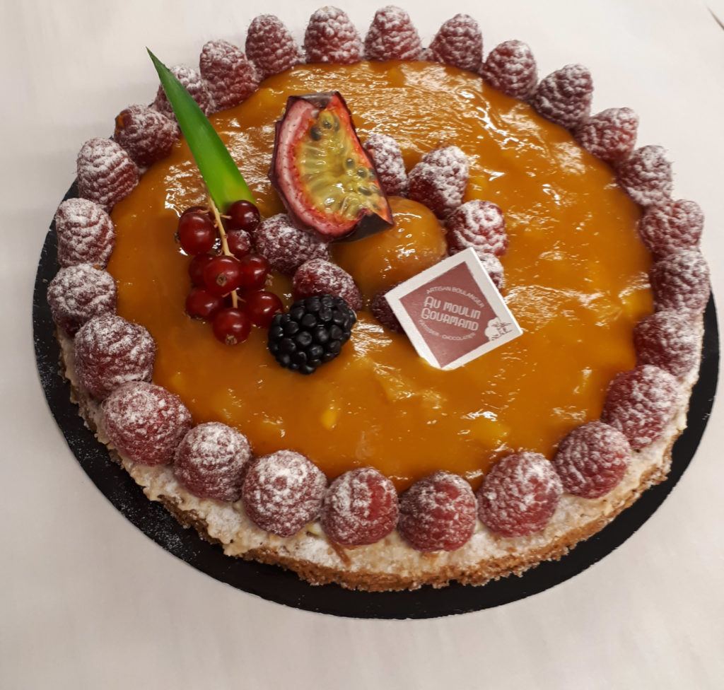 Tarte mangue passion / framboise